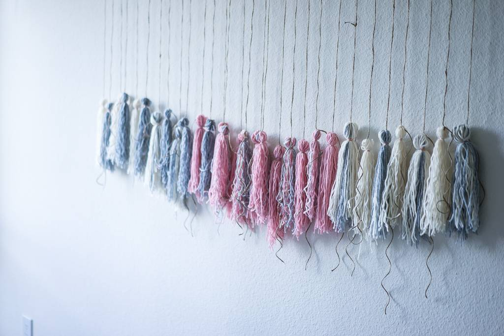 DIY Wall Hanging aka 10 Steps to a Cooler Bedroom aka My Tassel Hell